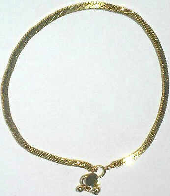 Pair Of Tight Chain Ankle Anklet Golden Colour Bracelet India