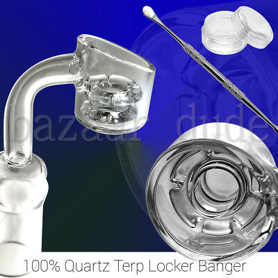 100% Quartz Terp Locker Banger | 14mm 18mm Female Male | Diamond Knot Nail