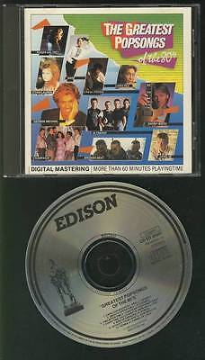 GREATEST POPSONGS OF THE 80's 1985 CD NO BARCODE DIRE STRAITS BRONSKI BEAT SADE
