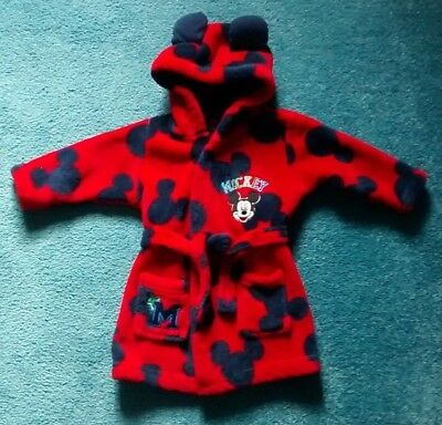 Disney Baby Mickey Mouse Dressing Gown Age 3- Months