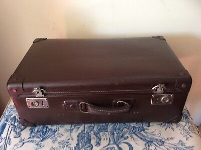 FRENCH VINTAGE LARGE SUITCASE - Storage, Prop, Upcycle (1251)