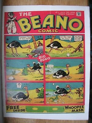 Copy Of Beano Number 1 30 July 1938,