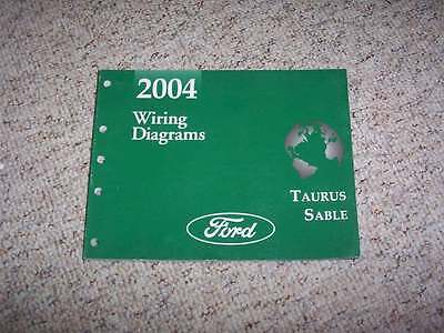 2004 Mercury Sable Electrical Wiring Diagram Manual GS LS Premium 3.0L V6