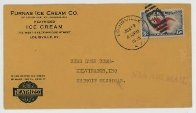 Mr Fancy Cancel Furnas Ice Cream Co Louisville KY 1938 Cvr #2599