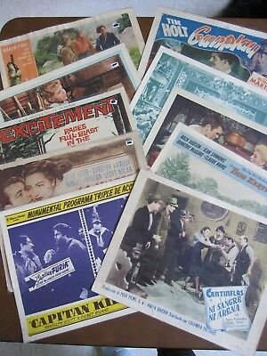 Amazing Lot of Ten (10) Hollywood Lobby Cards - 1940's/1950's/1960's