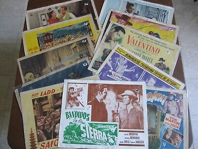 Amazing Lot of Eleven (11) Hollywood Lobby Cards - 1940's/1950's/1960's