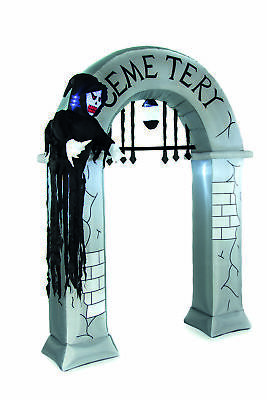 GIANT Inflatable Halloween Cemetary Archway Light Up Party Decoration Display
