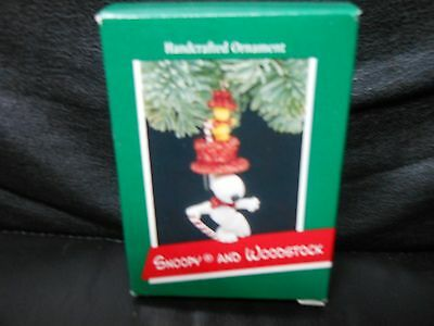 "Hallmark Keepsake ""Snoopy & Woodstock Dancing"" 1972 Ornament NEW"
