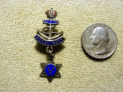 Original Wwi British Royal Navy King George V With Star Of David Sweetheart Pin