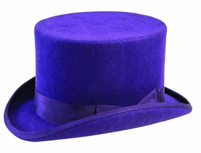 Super Deluxe Purple Mens Adult Willy Wonka Costume Top Hat