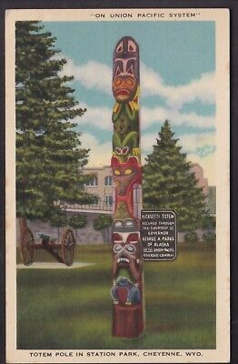 """Cheyenne, Wyo., Totem Pole In Station Park """"on Union Pacific System"""""""