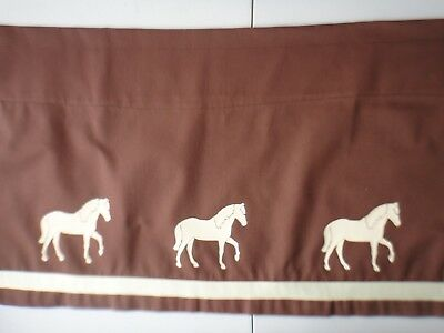 Paso Fino Valance brown with cream horses and ribbon sample sale