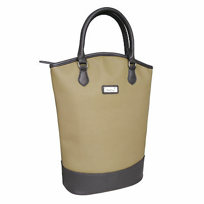Sachi Two Wine Bottle Insulated Cooler Tote Bag - Sage Green