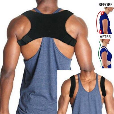Posture Corrector Shoulder Back Brace for Slouching Clavicle Support Armpit Pads