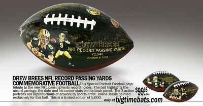 Drew Brees All Time Nfl Passing Record  Art Football By Jolene Jessie