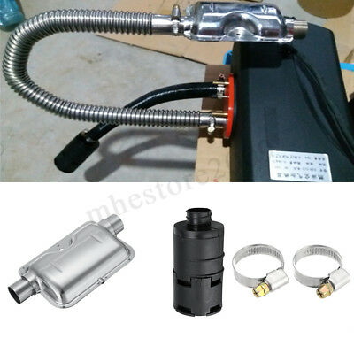 Stainless Steel Exhaust Silencer + 25mm Filter For Air Diesel Heater Car Muffler