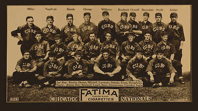 1913 Chicago Cubs Baseball Team Picture