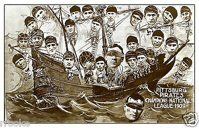 1909 Pittsburgh Pirates Baseball Team Picture Fine Art Print / Poster