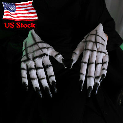 Beast Monster Demon Claws Hands Scary Adult Halloween Costume Gloves Fancy Dres