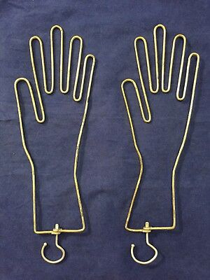 Vintage Antique Pair of Wire Form Glove Stretcher Hand Shapes~Great Condition!