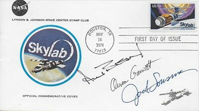 Skylab 3 Signed Skylab First Day Cover - Alan Bean Owen Garriott & Jack Lousma