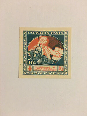 Latvia First Independence First Aid Proof 50kap Set 4