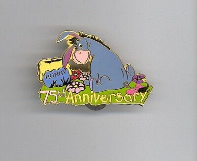 Disney Auctions 75th Ann Winnie the Pooh Eeyore with Hunny Pot LE 100 Pin HTF