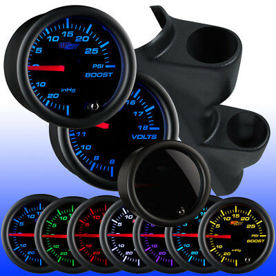 GlowShift Tinted 7 Color Dual Pillar Gauge Package for 95-99 Mitsubishi Eclipse