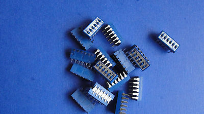 6 Position Dip Switch Off On - Qty 18 - New  Blue