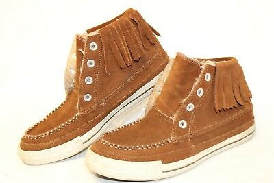 7a7336e84551 Converse All Star Womens 8.5 39.5 Fringe High Top Moccasin Sneakers Shoes gl