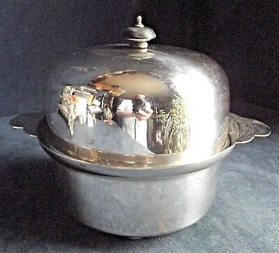 """SUPERB 8"""" ~ SILVER Plated ~ Muffin SERVING Dish ~ c1910"""