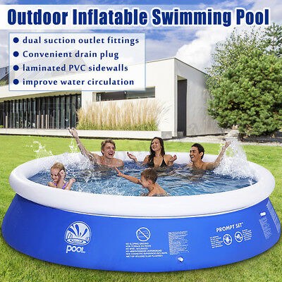 Family Inflatable Swimming Wading Paddling Pool Deep Kids Pools Toy Gift 5 Sizes