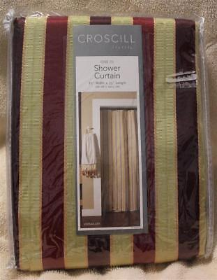 Croscill VERSAILLES RED Shower Curtain Brand New