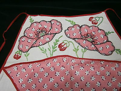 Vintage Childs Half Apron Handmade With Embroidery And Hand Stitching