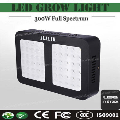 New 300W LED Grow Light Hydro Full Spectrum Veg Flower Indoor Plant Lamp Panel
