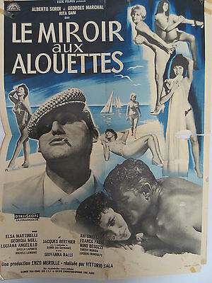 Old 1965 French Movie Poster Le Miroir aux Alouettes