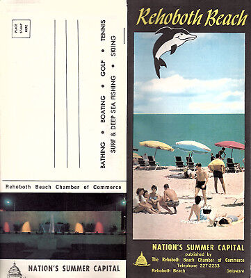 Rehoboth Beach Delaware 1966 Travel Booklet Photos Keyed Street Map Local Ads