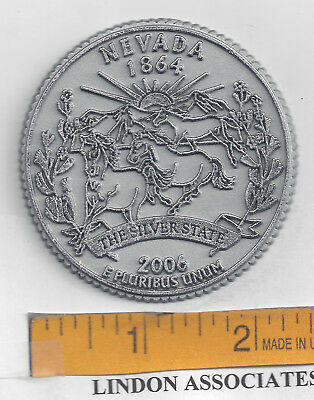 NEVADA Souvenir State Quarter Fridge Magnet   THE SILVER STATE