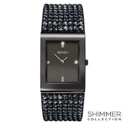 f049bf96f759 SEKSY ROCKS BLACK Swarovski Crystal Ladies Watch 2655 - EUR 111