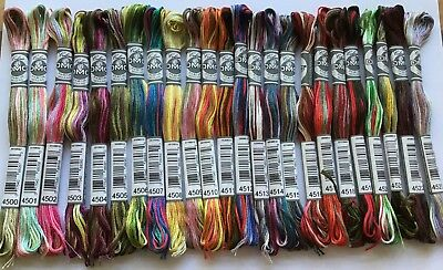 DMC COLORIS SKEINS No's 4500 - 4523  HALF SETS & FULL SETS  FREE PP