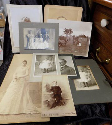 Estate Lot Of Antique Photos~Cabinet, Tin, 1800's~57 Total~Mixed