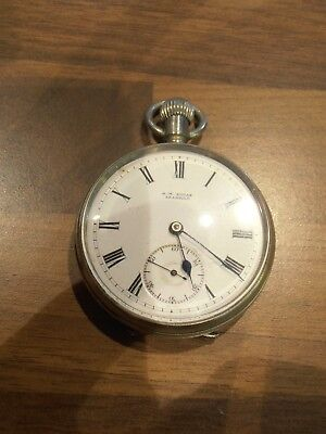 Antique Silver Cased Pocket Watch for spares or repair