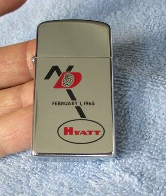 Vintage 1964 Zippo Slim Advertising Lighter New Departure Hyatt Aircraft Bearing
