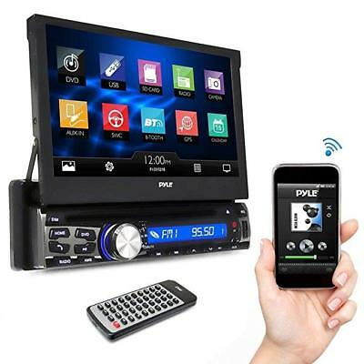 Pyle Single DIN In Dash Car Stereo Head Unit w/ 7inch Flip Out Touch Screen Moni