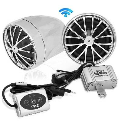 Pyle 400 Watt Bluetooth Sound System for Motorcycle/ATV/Snowmobile with Weatherp