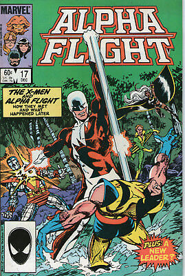 ALPHA FLIGHT # 17 - Vs  X-MEN ( 1st SERIES - SCARCE 1984 )