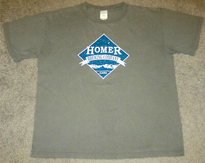 Homer Brewing T-Shirt- Size Adult Large- Homer, Alaska