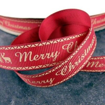 Christmas-Ribbon-Grosgrain-Bows-1m-2m-or-5m Merry Christmas Classique C1