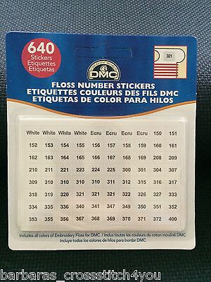 Dmc Number  Label Use With Plastic & Card Bobbins & Stitchbows