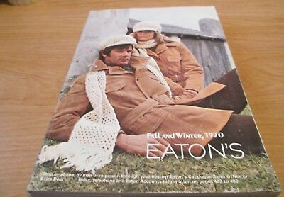 Vintage 1970  - Eaton's Fall & Winter Catalog 1970